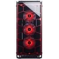 Corsair Crystal Series 570X RGB ATX Mid-Tower Case - Red