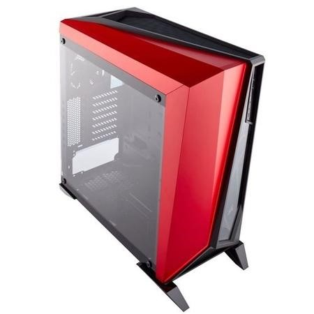 Corsair Carbide Series SPEC-OMEGA Tempered Glass Mid-Tower ATX Gaming Case - Black/Red