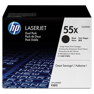 HP 55X Dual Pack - Toner cartridge - 2 x black - 12500 pages