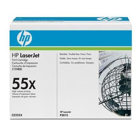 HP CE255X Black Toner Cartridge 12.5k