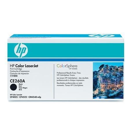 HP Color LaserJet CE260A Black Toner Cartridge