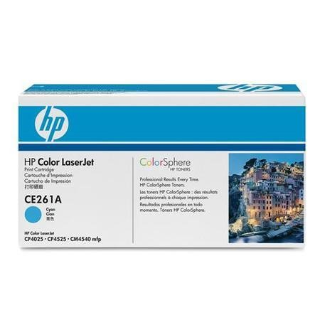 HP Color LaserJet CE261A Cyan Print Cartridge