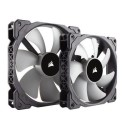 CO-9050044-WW Corsair ML140 140mm PWM Premium Magnetic Levitation Fan - Twin Pack