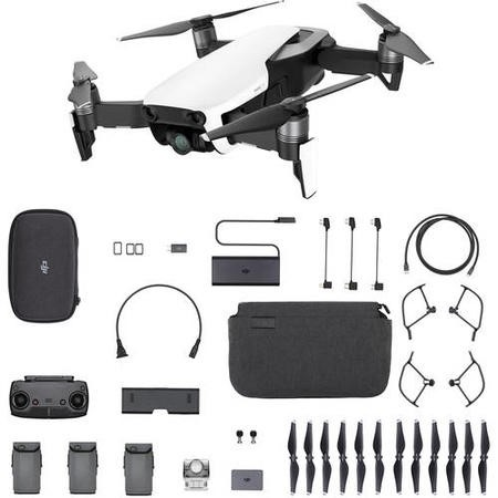 DJI Mavic Air 4K Drone with Fly More Combo - Arctic White