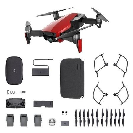 DJI Mavic Air 4K Drone with Fly More Combo - Flame Red