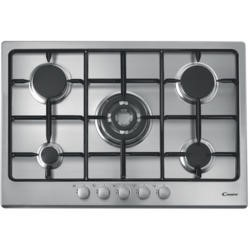 Candy CPG75SQPX 75cm Five Burner Gas Hob Stainless Steel