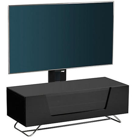 "Alphason CRO2-1000BKT-BK Chromium 2 TV Cabinet with Bracket for up to 50"" TVs - Black"