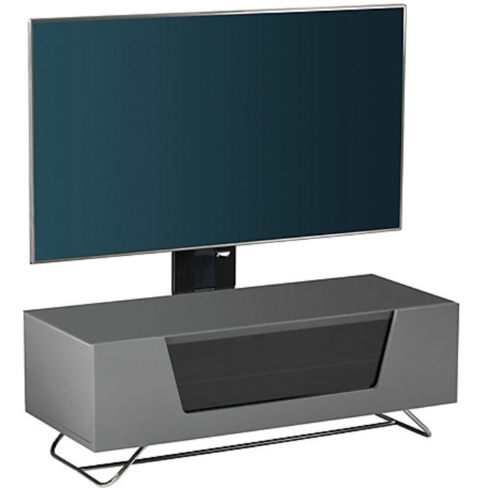 Alphason CRO2-1000BKT-GR Chromium 2 TV Cabinet with Bracket for up to 50