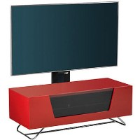 "Alphason CRO2-1000BKT-RE Chromium 2 TV Cabinet with Bracket for up to 50"" TVs - Red"