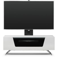 "Alphason CRO2-1000BKT-WH Chromium 2 TV Cabinet with Bracket for up to 50"" TVs - White"