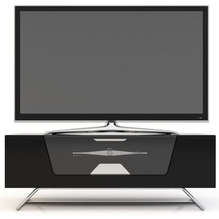"Alphason CRO2-1000CB-BLK Chromium Black TV Stand for up to 50"" TVs"
