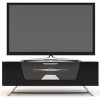Alphason Chromium high gloss Black TV Cabinet - Up To 50 Inch
