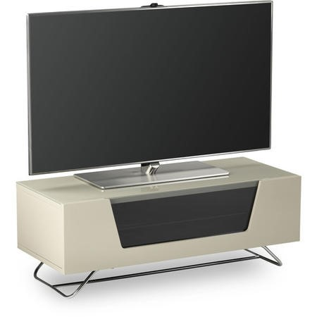 "Alphason CRO2-1000CB-IVO Chromium 2 Ivory TV Stand for up to 50"" TVs"
