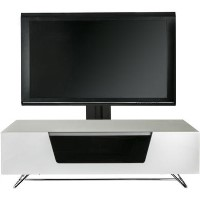 "Alphason CRO2-1200BKT-WH Chromium 2 TV Cabinet with Bracket for up to 50"" TVs - White"