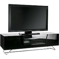 "Alphason CRO2-1200CB-BLK Chromium 2 TV Unit for up to 55"" TVs - Black"
