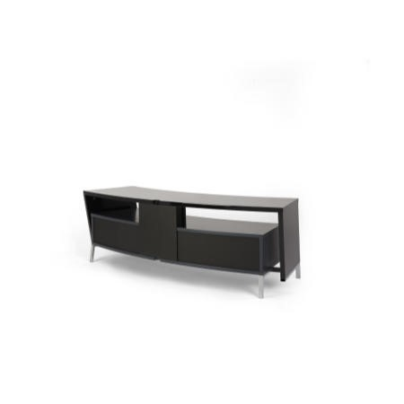Off The Wall Curved 1500 Black TV Cabinet - Up to 65 Inch