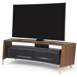 Off The Wall Curved 1500 Dark Wood Walnut Effect  TV Cabinet - Up to 65 Inch
