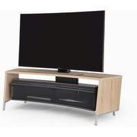 Off The Wall Curved 1500 Light Wood Oak Effect  TV Cabinet - Up to 65 Inch