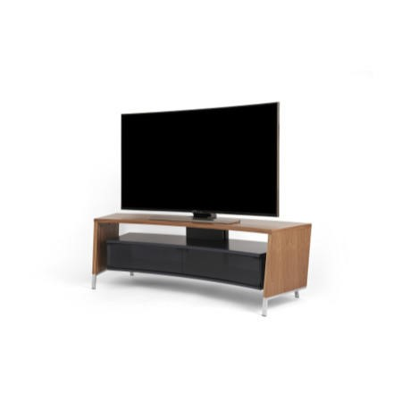 Off The Wall Curved 1500 Walnut TV Cabinet - Up to 65 Inch