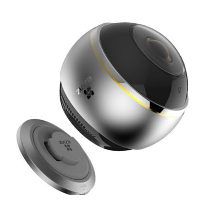 CS-CV346-A0-7A3WFR EZVIZ ez360 Pano Indoor Panoramic Camera with Fisheye Lens - Works with Amazon Alexa & Google Assistant IFTTT