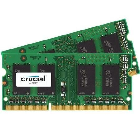 CT2KIT25664BF160B Crucial 4GB DDR3 1600MHz Non-ECC SO-DIMM 2 x 2GB Memory Kit