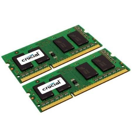Crucial 8GB DDR3 1600MHz Non-ECC SO-DIMM 2 x 4GB Laptop Memory Kit