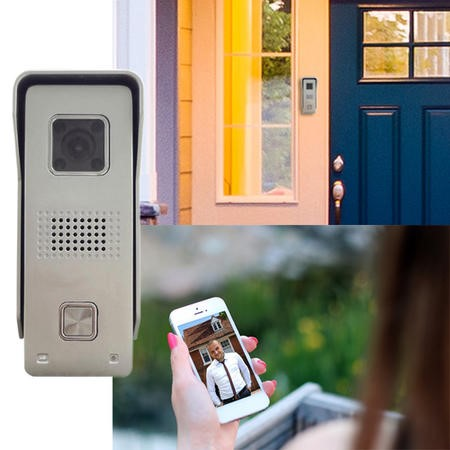 electriQ HD 720p Wifi Video Doorbell with 8GB Memory Unlock Function & Motion Detection