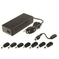 "2-Power Universal Ac Adapter with Power Lead - 120W - for Laptops 17"" Above - 8 tips supplied"