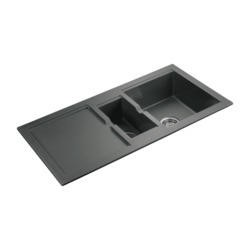 Rangemaster CX9852GG Cubix 985x508 1.5 Bowl Reversible Granite Grey Sink