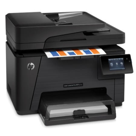HP M177FW Laser Multifunction Printer - Colour - Copier/Fax/Printer/Scanner - 16 ppm Mono/4 ppm Color Print - 2400 dpi Print - LCD Screen - Ethernet - WiFi - USB