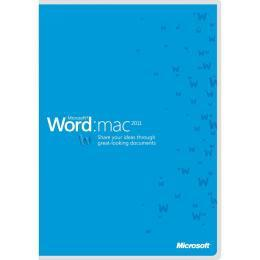 Microsoft® Word Mac 2011 Sngl Academic OPEN 1 License No Level