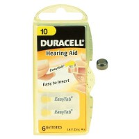 Duracell DA10 1.4v Hearing Aid Battery 1 x 6 Pack