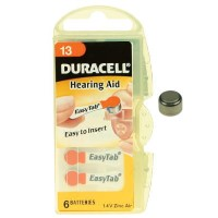 Duracell DA13 1.4v Hearing Aid Battery 1 x 6 Pack