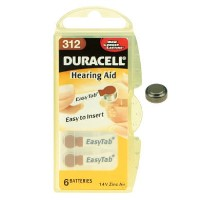 Duracell DA312 1.4v Hearing Aid Battery 1 x 6 Pack