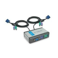 D-Link 2-Port KVM Switch with Built-in cables