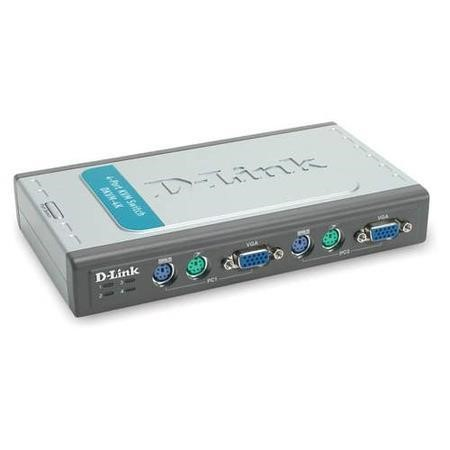 D-Link 4-Port KVM Switch with 2 KVM cables