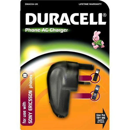 AC adapter Power Duracell AC Phone Charger-Sony-Ericsson