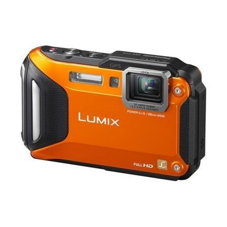 Panasonic DMC-FT5 3D 16MP 4.6xZoom 3.LCD 28mm Leica Wtprf GPS WiFi Tough / Waterproof Camera - Orange