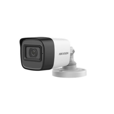 Hikvision 5MP Audio Mini Analogue Bullet Camera - 1 Pack