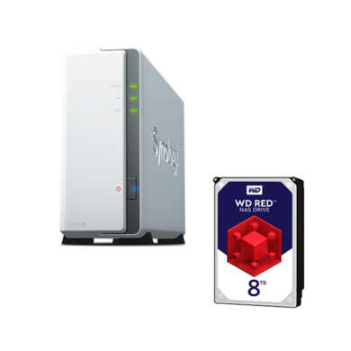 Synology DS115J  8TB 1 x 8TB WD RED HDD
