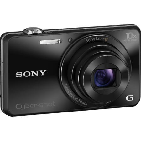 Sony DSCWX220 18MP Smart Digital Camera - Black