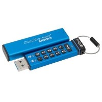 Kingston DataTraveler 2000 - USB flash drive - encrypted - 16 GB - USB 3.1