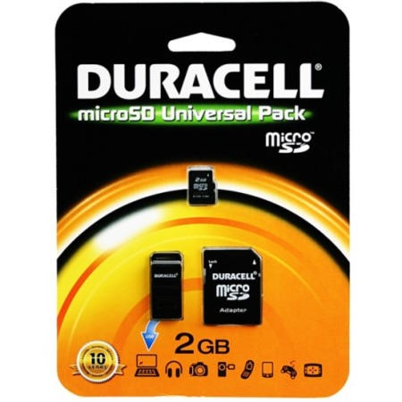 Micro SD Memory Duracell 2GB SD Micro Connectivity Kit