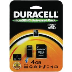 Micro SD Memory Duracell 4GB SD Micro Connectivity Kit