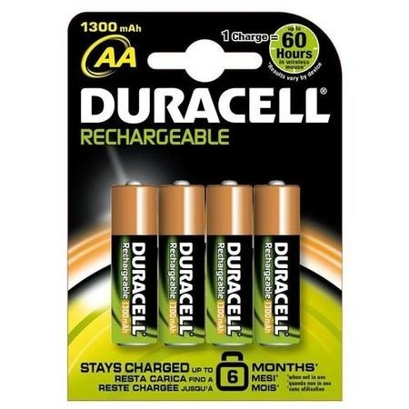 Duracell HR6-B Rechargeable AA 1300mAh 4 Pack