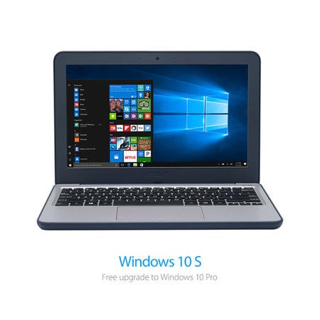 Asus VivoBook Intel celeron N3350 4GB 64GB eMMC 11.6 Inch Windows 10 S Laptop