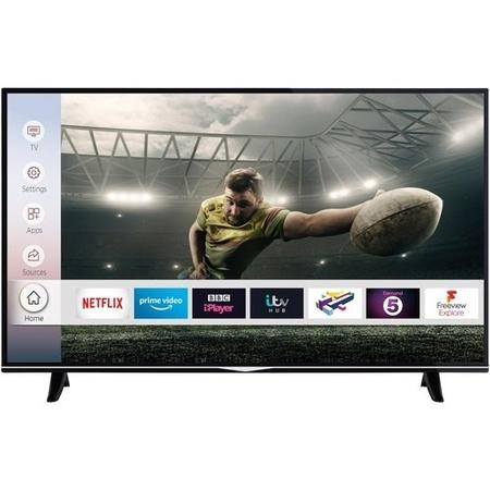 "E49UHDHDRS2Q electriQ 49"" 4K Ultra HD Dolby Vision HDR LED Smart TV with Freeview HD and Freeview Play"