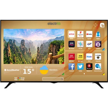"E75UHDHDRSQ electriQ 75"" 4K Ultra HD Dolby Vision HDR LED Smart TV with Freeview HD and Freeview Play"