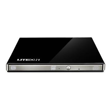Lite-On eBAU108 DVD Writer External Optical Drive in Black
