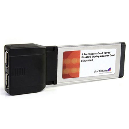 StarTech.com 2 Port ExpressCard 1394a FireWire Laptop Adapter Card
